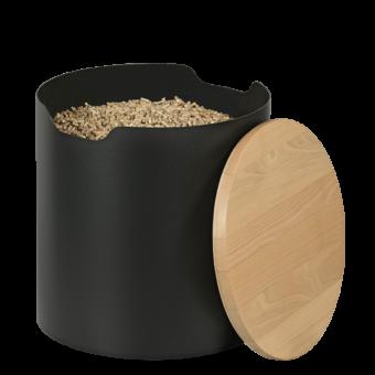 barrel rangement granule acier hetre | BUCHES ENERGIE