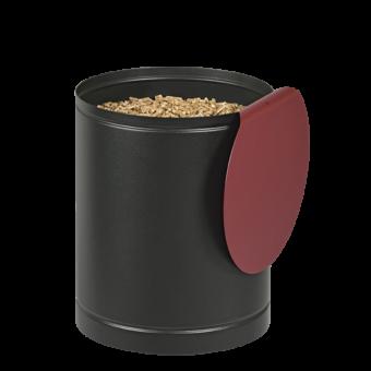 batiss rangement pellets noir rouge bordeaux | BUCHES ENERGIE